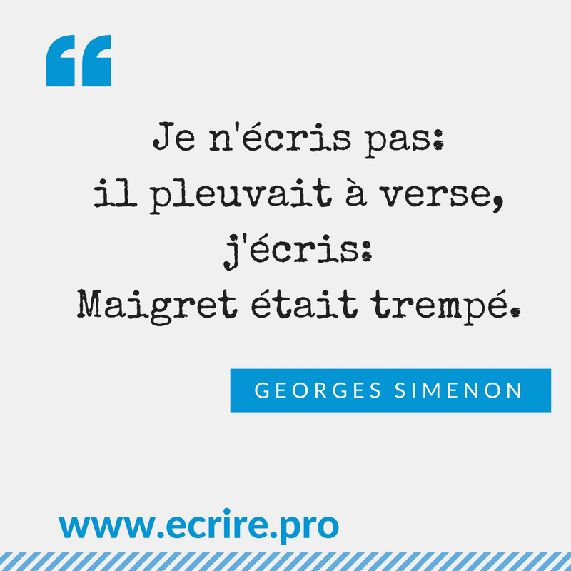 Citation de Georges Simenon